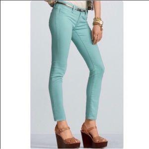 CAbi mint green skinny jeans #323. Size 2